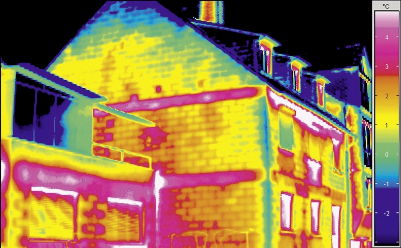 Wärmedämmung Thermografie ungedaemmt - Maler Buban